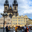 Jazz band playing on the Old Town Square in Prague — Stock Photo