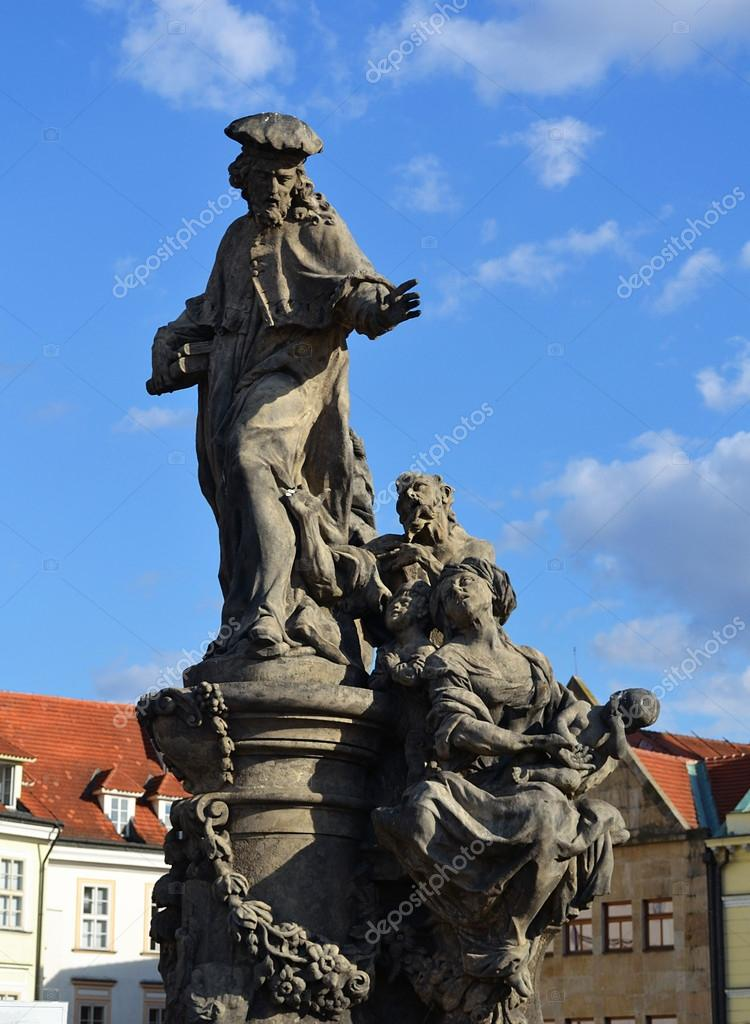 Statue on Charles bridge, Prague — Stock Photo #18373175