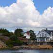 Beautiful Swedish house on Styrso island — Stock Photo