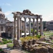 Roman ruins in Rome, Forum, Italy — Stock Photo