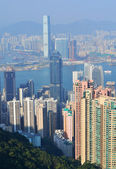 Hong Kong Skyline Birds eye View — Stock Photo