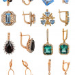 Jewelry earrings - Stock Photo