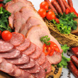 Sausages, meat and vegetables — Stock Photo #17055431