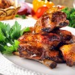 Ribs grilled - Stock Photo