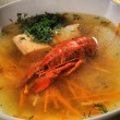 Stock Photo: Shellfish soup