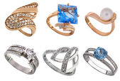 Jewelry rings — Stock Photo