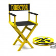 Stock Photo: Film industry: directors chair