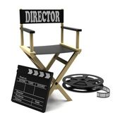 Film industry: directors chair — Stock Photo