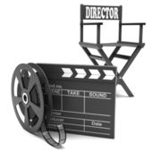 Film industry: directors chair — Stok fotoğraf