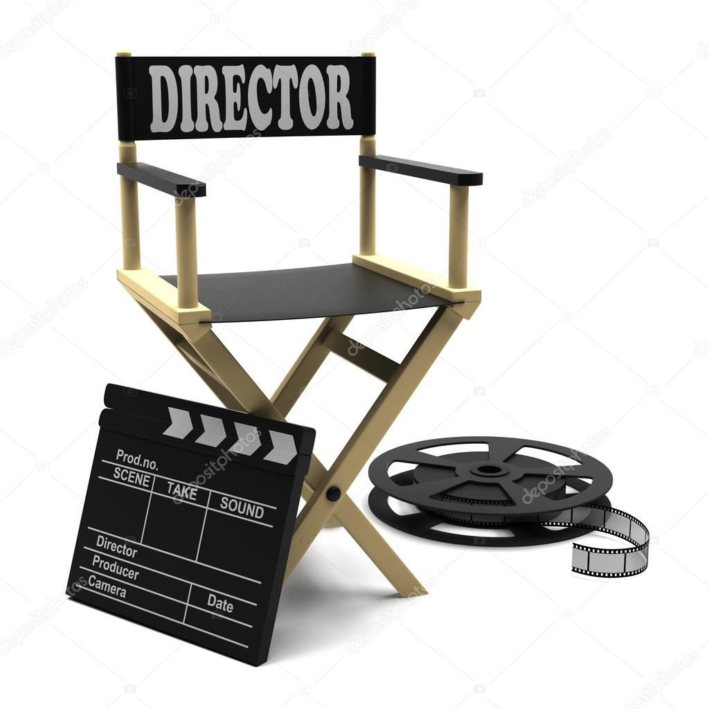 Film industry directors chair stock image