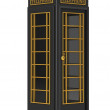 Foto Stock: British black phone booth