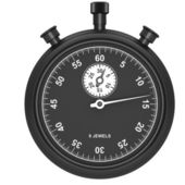 Black stopwatch — Stockfoto