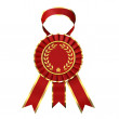 Stock Photo: Red ribbon award