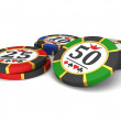 Stock Photo: Casino chips