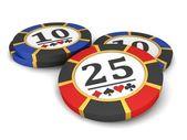 Casino fişi — Stok fotoğraf