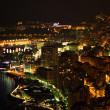 Monte Carlo night scene - Stock Photo