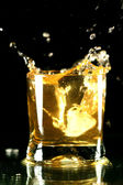 Whiskey splash — Stock Photo