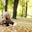Woman read in park — Stock Photo #12314822