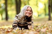 Podzimní žena — Stock fotografie