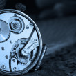 Clock gear macro — Stockfoto