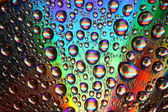 Multicolored waterdrops — Stock Photo