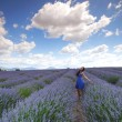 Woman on lavender field — Stock Photo #12521456
