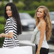 Two woman shopping — Stock Photo