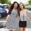Two woman shopping — Stock Photo #12521588