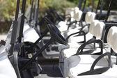 Un número de los carritos de golf en el golf — Foto de Stock