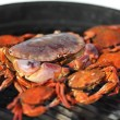 Crab on charcoal grill — Stock Photo #12879522
