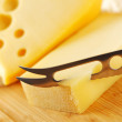 Cheese with a cheese knife — Stock Photo #12879665
