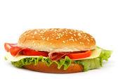 Cheeseburger isolated on white — Stockfoto