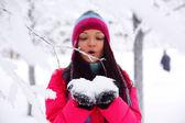 Winter girl — Stockfoto