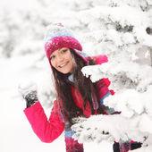 Play snowballs — Stock Photo