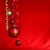 Bola vermelha de natal — Foto Stock