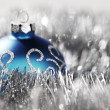 Blue christmas ball — Stock Photo #13562907