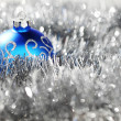 Blue christmas ball — Stock Photo #13562908