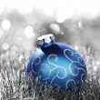 Blue christmas ball — Stock Photo #13562911
