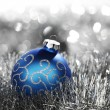 Blue christmas ball — Stock Photo #13562912
