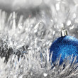 Blue christmas ball — Stock Photo #13562917