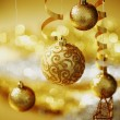 Stock Photo: Golden christmas