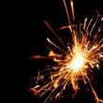 Holiday sparkler — Stock Photo #13563007