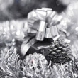 Silver christmas card — Stock Photo #13563053