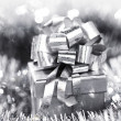 Silver christmas card — Stock Photo #13563054