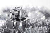 Stříbrné vánoční přání — Stock fotografie