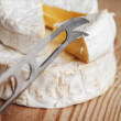 Stock Photo: A piece of Brie cheese