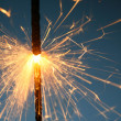 Sparkler fire — Stock Photo
