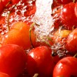 Sweet cherry under wet — Stock Photo