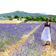 Royalty-Free Stock Photo: Woman standing on a lavender field