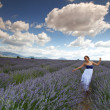 Stock Photo: Woman on lavender field